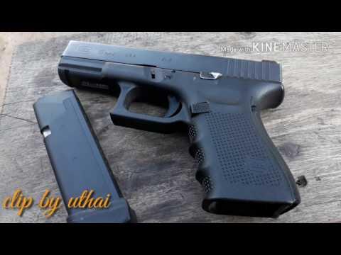 Glock 19 gen4  usa. แนะนำปืนกล๊อก ปืนนิยมคนไทยรูปทรงสวยไม่เบา
