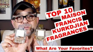 Top 10 Maison Francis Kurkdjian Fragrances My Top Ten Favorite Mfk Fragrances Youtube