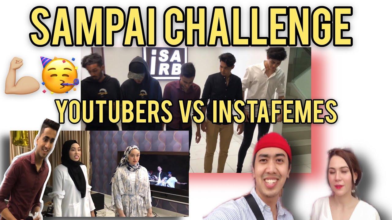 "Isa Isarb "" SAMPAI Challenge"" YOUTUBERS VS INSTAFEMES siapa menang?!"
