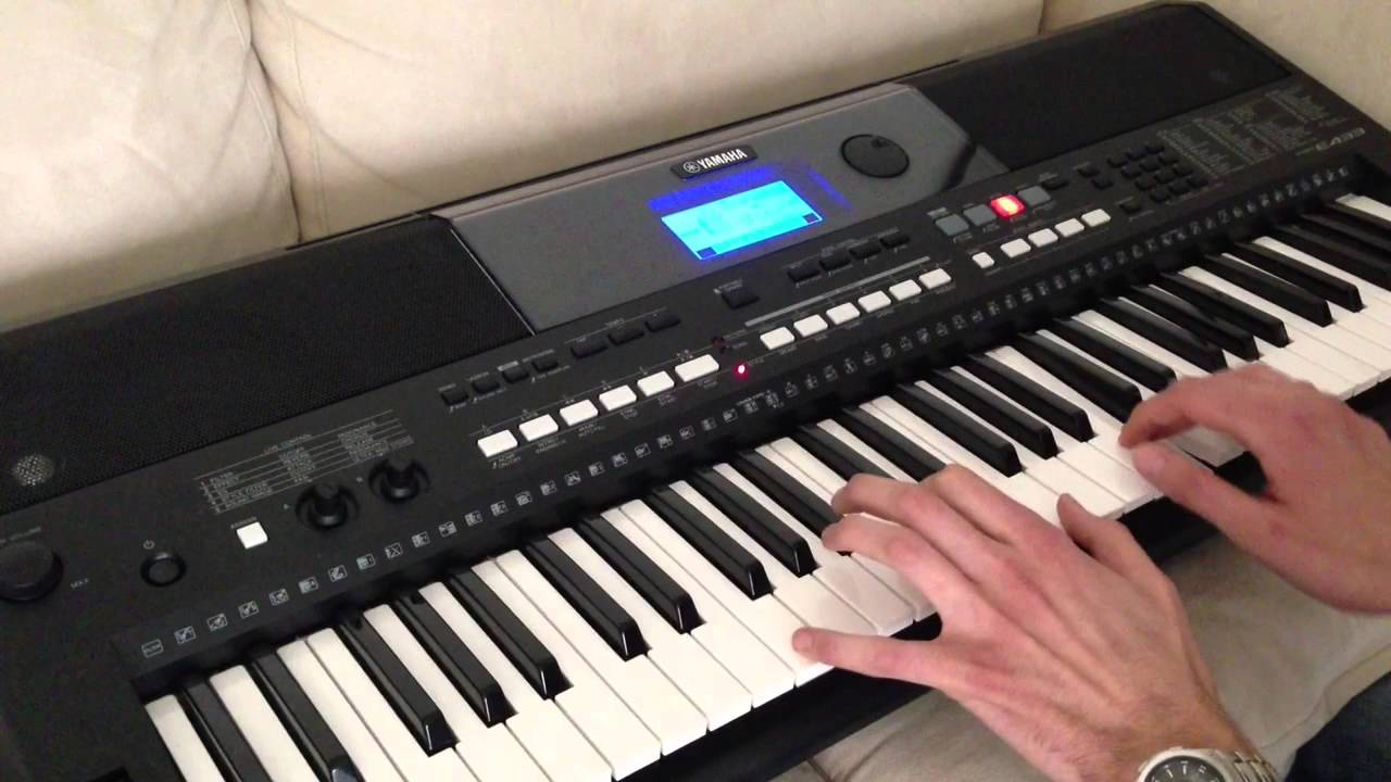 yamaha psr e433 titanic theme youtube