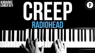 Radiohead - Creep Karaoke SLOWER Instrumental Acoustic Piano Cover Lyrics On Screen LOWER KEY