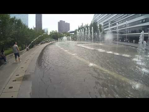 [2K]YI Action Cam Recording Wangjing SOHO Fountain - Sami Luo
