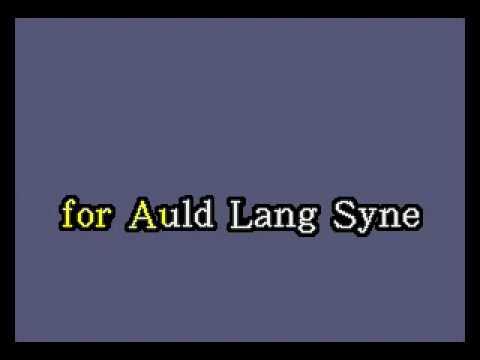 Auld Lang Syne (Video Karaoke Version)