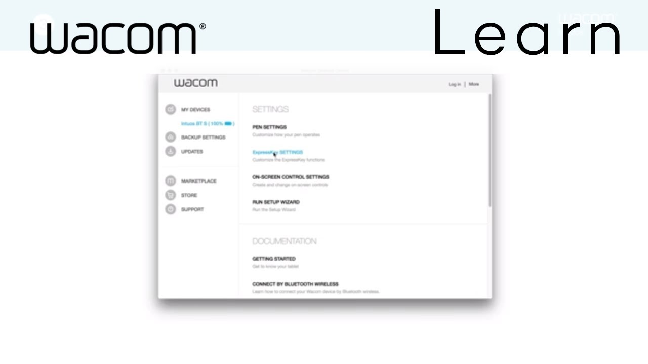 Customizing your Wacom Intuos tablet driver settings