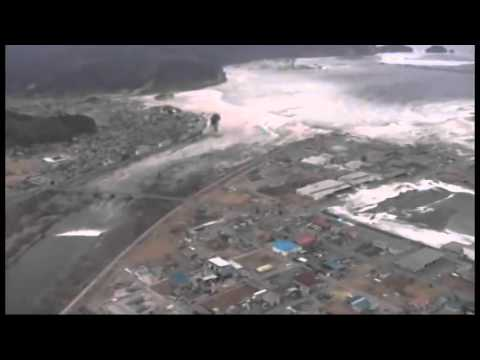Tsunami devours people of Minamisanriku filmed from the air