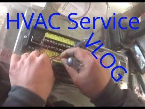 Hvac Service Vlog Wiring Duct Smoke Detector A Day In The