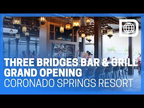 Three Bridges Bar & Grill at Villa Del Lago - Grand Opening Tour - Coronado Springs Resort