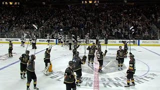 Golden Knights and Coyotes salute fans after Vegas home opener