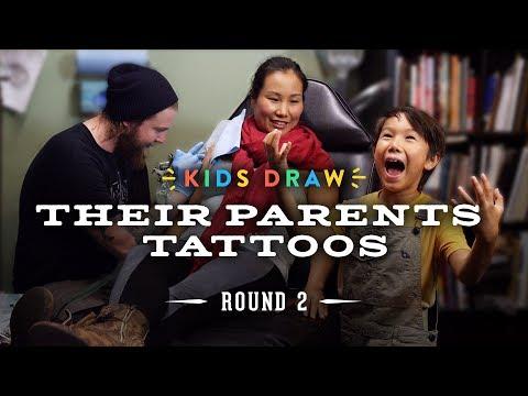 Kids Draw Their Parents Tattoos | Kids Draw | Cut