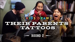 Kids Draw Their Parents Tattoos | Kids Draw | Cut