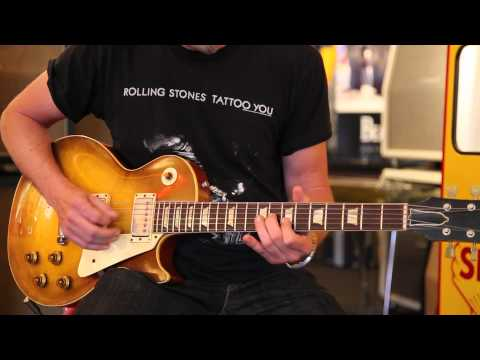 Darin Goldston plays a 1959 Gibson Les Paul Standard at Rumble Seat Music Southwest