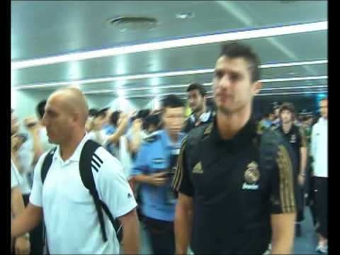Real Madrid land in China