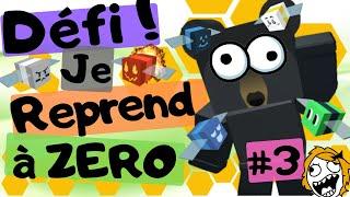 DEFI: #3 I'm starting again at ZERO! Bee Swarm Simulator DE ROBLOX