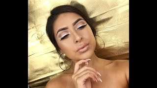 ALL NUDE EVERYTHING | SILVER GLITTER LINER | GIVEAWAY ?!| CYNTHIA P...