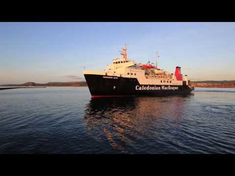 HEBRIDEAN ISLES Leaving Ardrossan Harbour 04/ 01.2016.