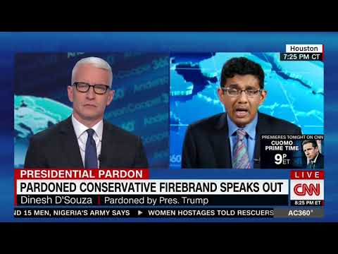 DINESH D'SOUZA FULL EXPLOSIVE ONE-ON-ONE INTERVIEW WITH ANDERSON COOPER (6/4/2018)
