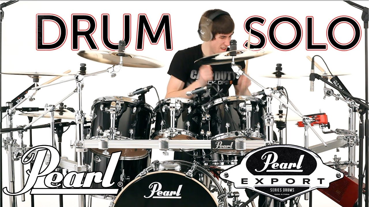 Drum Solos On The New Pearl Export Series Drums