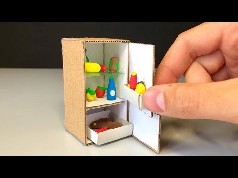 How to Make Micro Fridge - DIY Realistic Miniature Fridge (DollHouse)