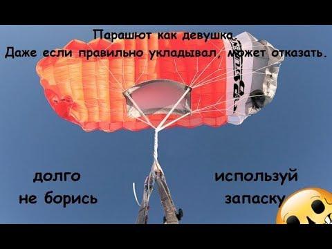 ТОП 5 отказов парашюта + отцепка.