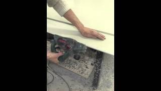 видео Сварка геомембраны строительным феном