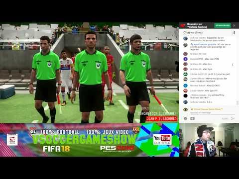 Saint-Etienne - Lyon [PES 2018]   Ligue 1 Conforama 2017-2018 (12ème Journée)   IA Vs. IA