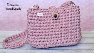 Сумка из  трикотажной пряжи. Crochet bag