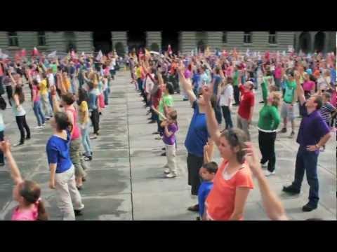 Bern, Switzerland - Up to Faith Global Dance 2012 - [OFFICIAL] Tanz Bundesplatz Bern