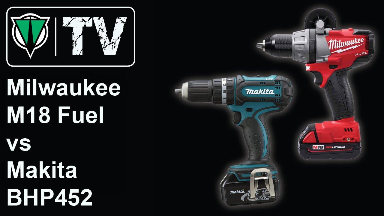 toolsvision milwaukee m18 fuel vs makita bhp452 youtube. Black Bedroom Furniture Sets. Home Design Ideas