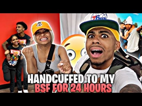 Download Handcuffed To My Bsf For 24 Hours😨| I Went In The Mens Bathroom😳|
