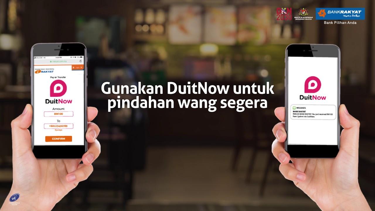 Duitnow Bank Rakyat Langkah Langkah Lengkap Duitnow 2019 Youtube