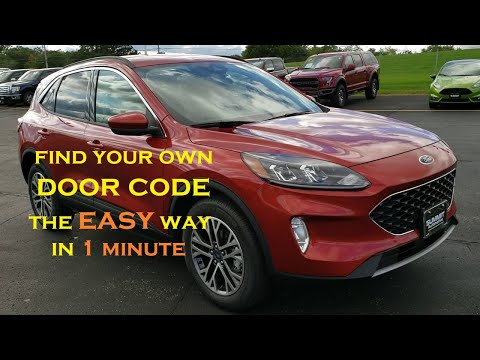 Where is my door code for my 2020 Ford Escape? 2020 FORD ESCAPE DOOR CODE LOCATION SUMMITAUTO.com