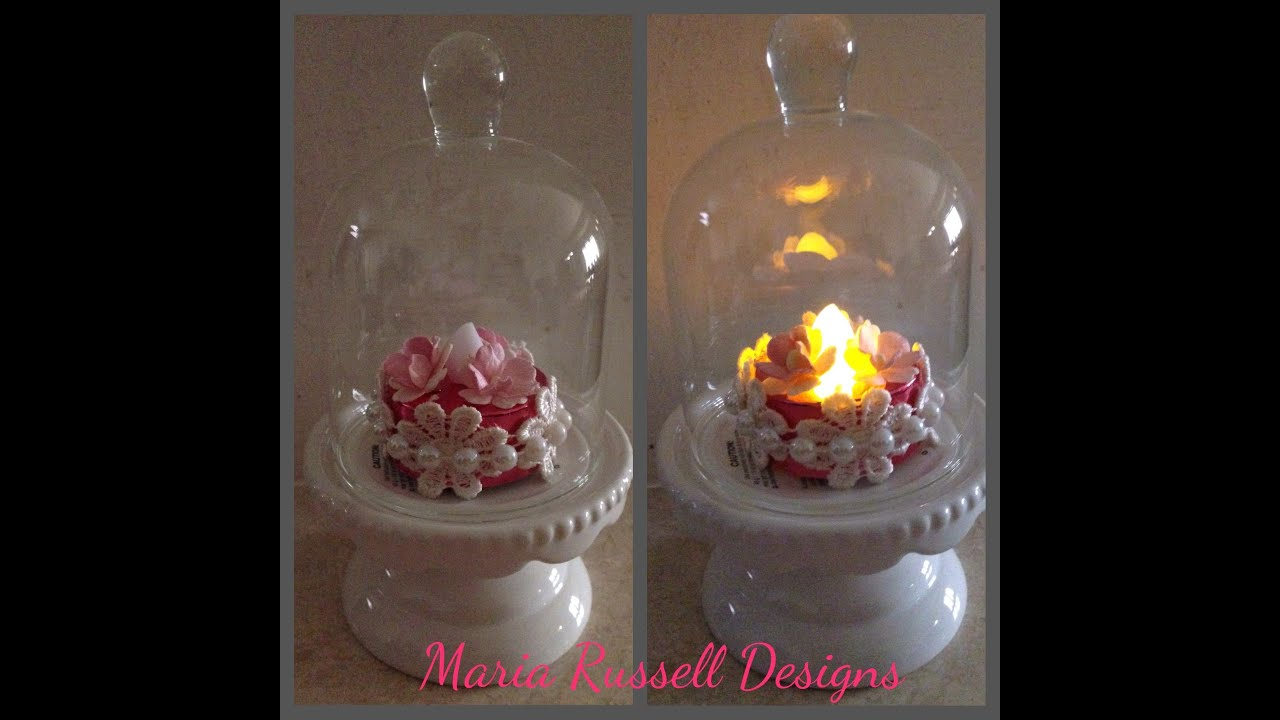 Shabby Chic Projects-Altered Tea Light and Ornament - YouTube