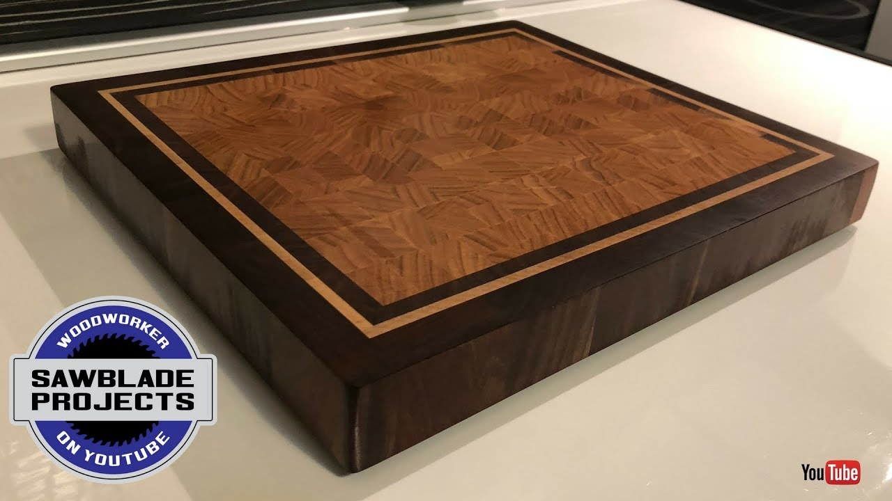 The CHERRY END GRAIN cutting board with walnut and maple