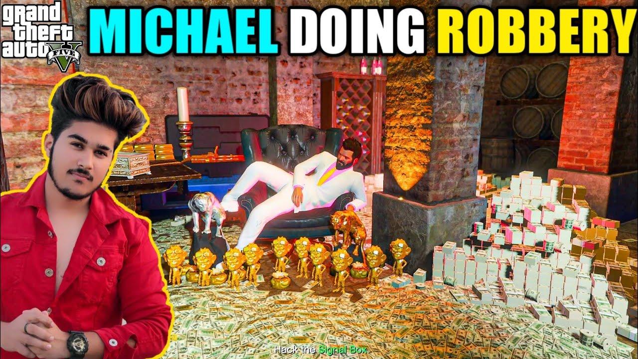 GTA 5 : MICHAEL DOING BIG ROBBERY WITH MR.KHAN THE MAFIA | GTA 5 GAMEPLAY #113
