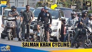 Salman Khan Cycling On The Streets Of Mumbai After Dabangg 3 Shoot Over
