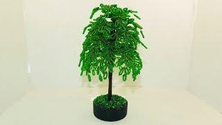 дерево из бисера для начинающих пошагово
