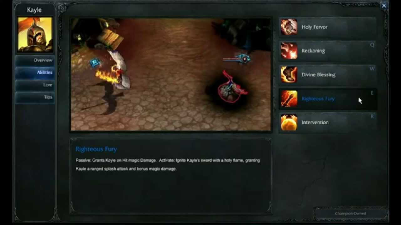 kayle abilities league of legends youtube