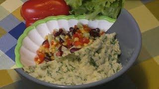 два салата за 10 минут,худеем вкусно! Салаты с фасолью и с яйцом!