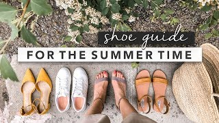 Summer Shoe Guide Practical and Classic Shoes to Get You Through Summer  by Erin Elizabeth