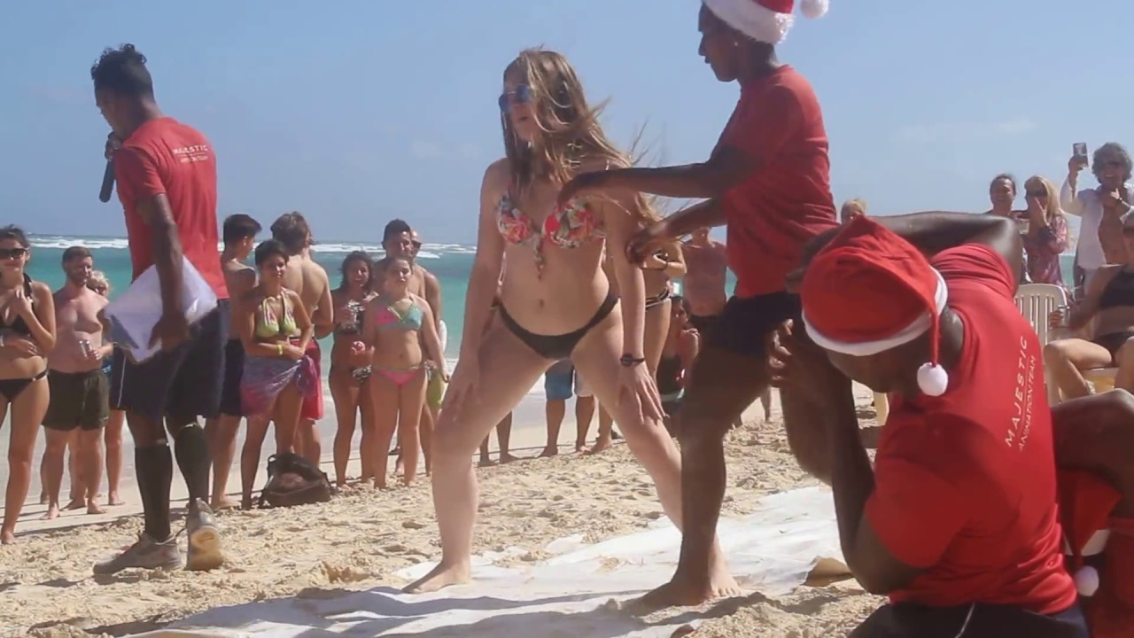 The Queen Of Miss Sexy On Punta Cana Beach Part 1