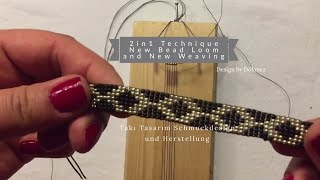 Gambar cover 2in1 Technique New Bead Loom and New Weaving - 2'si1arada Boncuk Tezgâhı ve Dokuma Tekniği By Dökmez