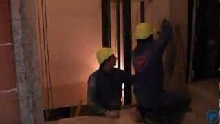 TRESA.Монтаж дверей лифтов.(Компания TRESA. Производство лифтов. Официальный дилер в России компания ООО