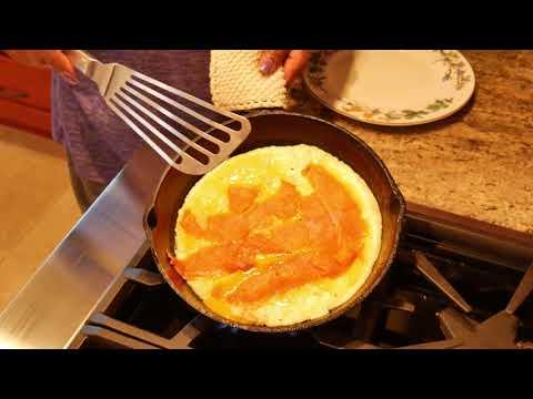 Smoked Salmon Omelette For Breakfast #salmonomelette