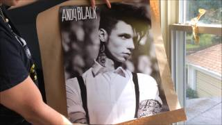 Andy Black 'The Shadow Side' Poster + Signed CD Unboxing
