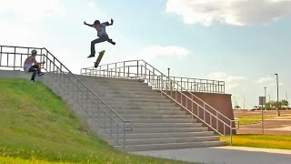 One of Josh Katz's most viewed videos: 17 Stair Hardflip Attempts!?!