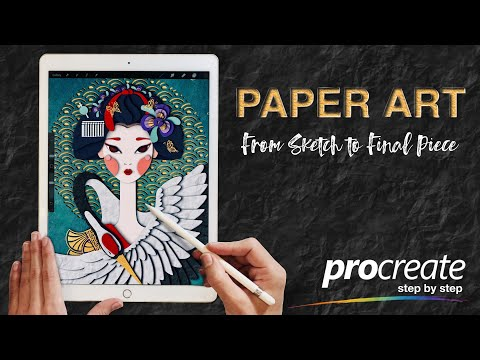 (TEASER) How To Create Paper Art In Procreate: From Sketch To Final Piece