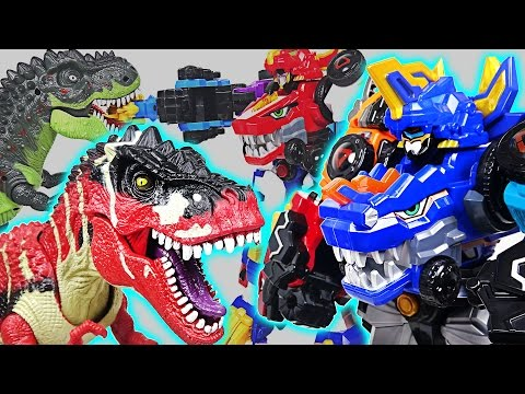 Thumbnail: Dinosaurs Devil Attack! Lion Guard, Pororo are dangerous! Go! DinoCore Team! - DuDuPopTOY