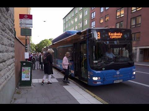 Sweden, Stockholm, ride with bus No 3 from Gotlandsgatan to Central Station