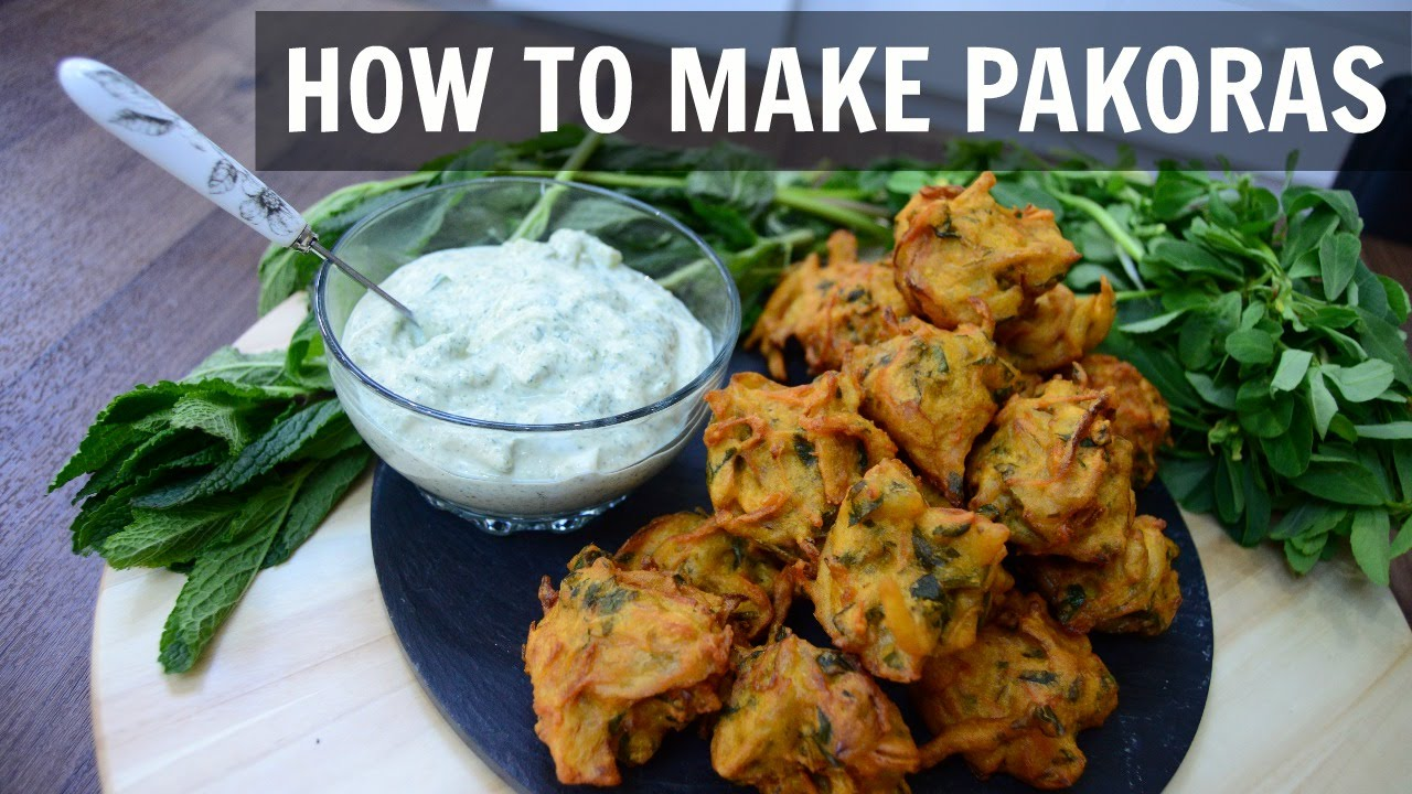 how to make pakora onion bhaji indian cooking recipes