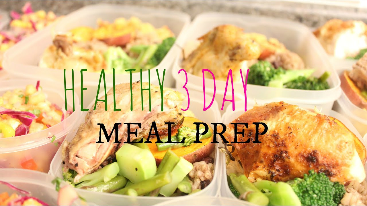 healthy meal prep for the week youtube